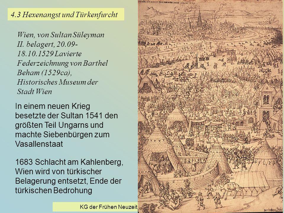 KG der Frühen Neuzeit - WS 2006/07 - Einführung 30 4.3 Hexenangst und Türkenfurcht Wien, von Sultan Süleyman II. belagert, 20.09- 18.10.1529 Lavierte