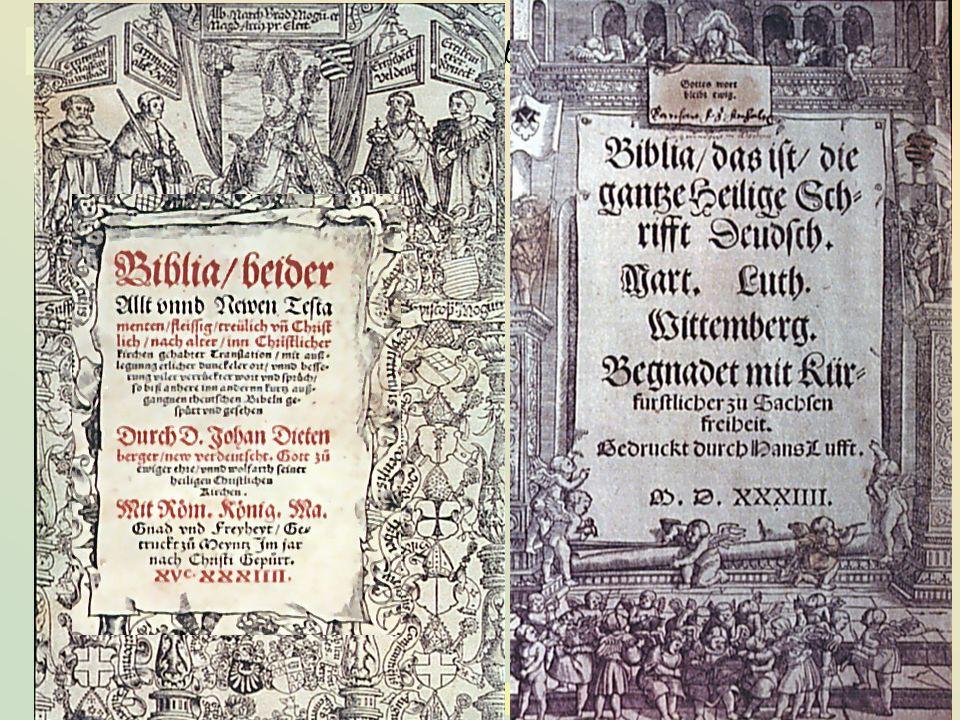 KG der Frühen Neuzeit - WS 2006/07 - Einführung II 19 3.1.4 der Buchdruck – die Lutherbibel