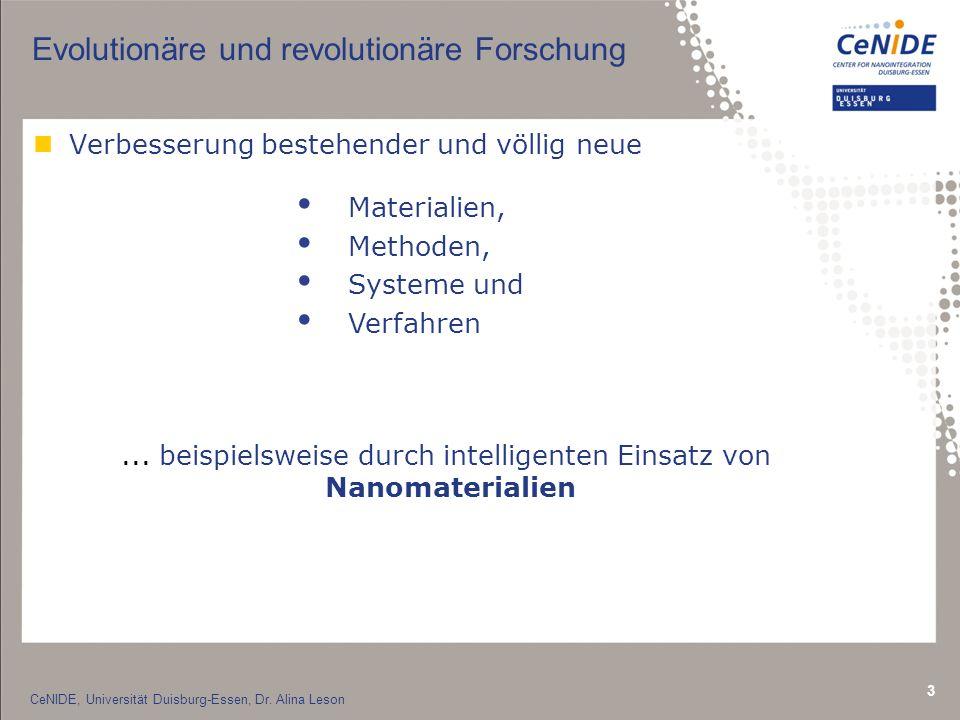 3 Evolutionäre und revolutionäre Forschung nVerbesserung bestehender und völlig neue Materialien, Methoden, Systeme und Verfahren...