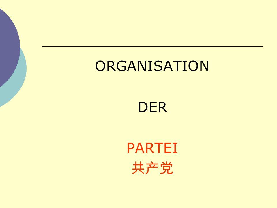 ORGANISATION DER PARTEI