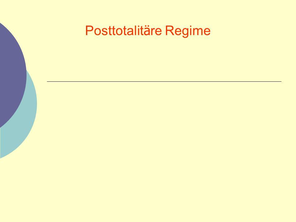Posttotalit ä re Regime