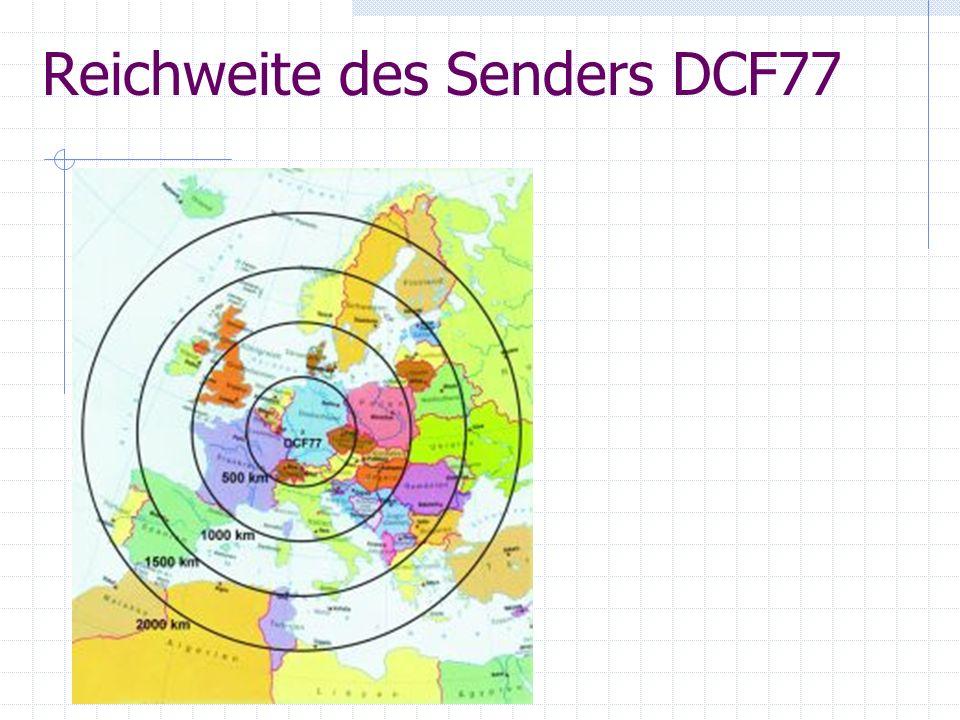 Reichweite des Senders DCF77