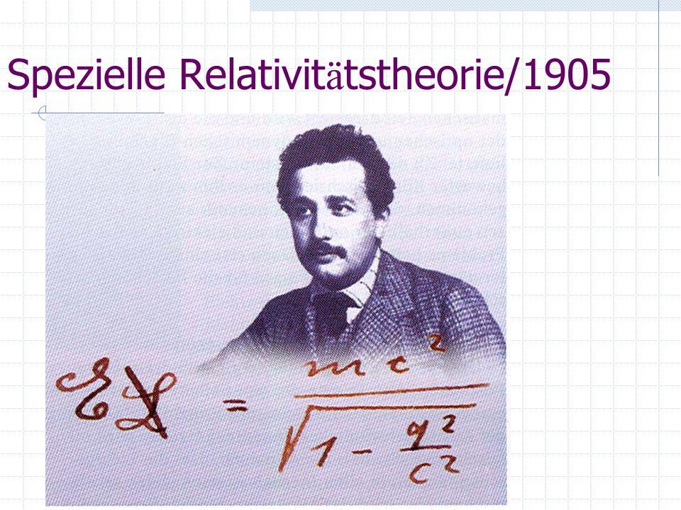 Spezielle Relativit ä tstheorie/1905