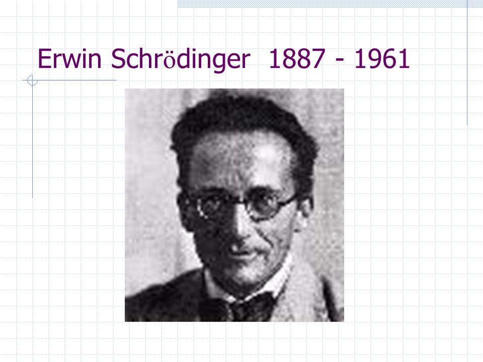 Erwin Schr ö dinger 1887 - 1961
