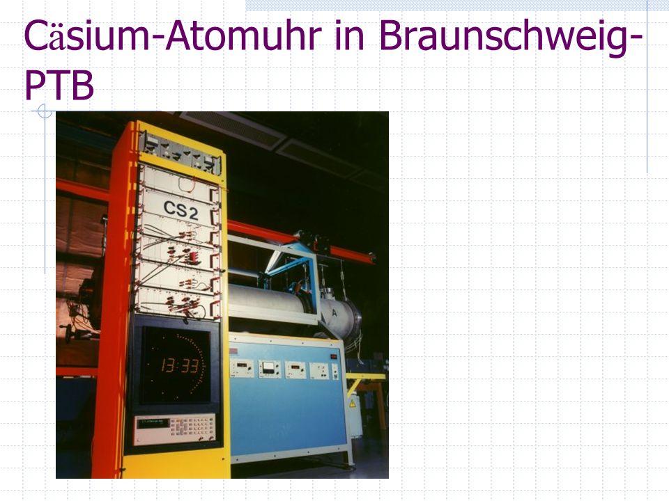C ä sium-Atomuhr in Braunschweig- PTB