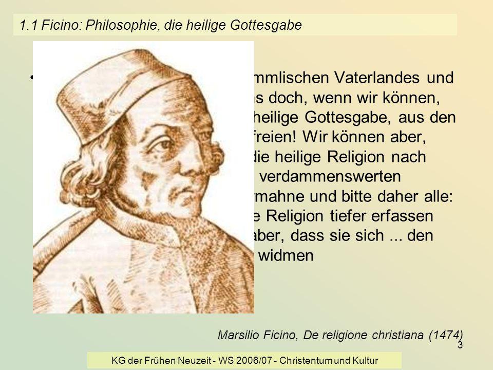 KG der Frühen Neuzeit - WS 2006/07 - Christentum und Kultur 24 3.2 François Marie Arouet, gen.