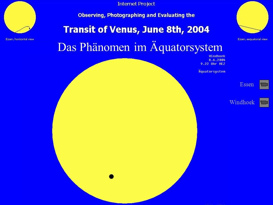 Äquatorialparallaxe Das Phänomen im Äquatorsystem Windhoek Essen