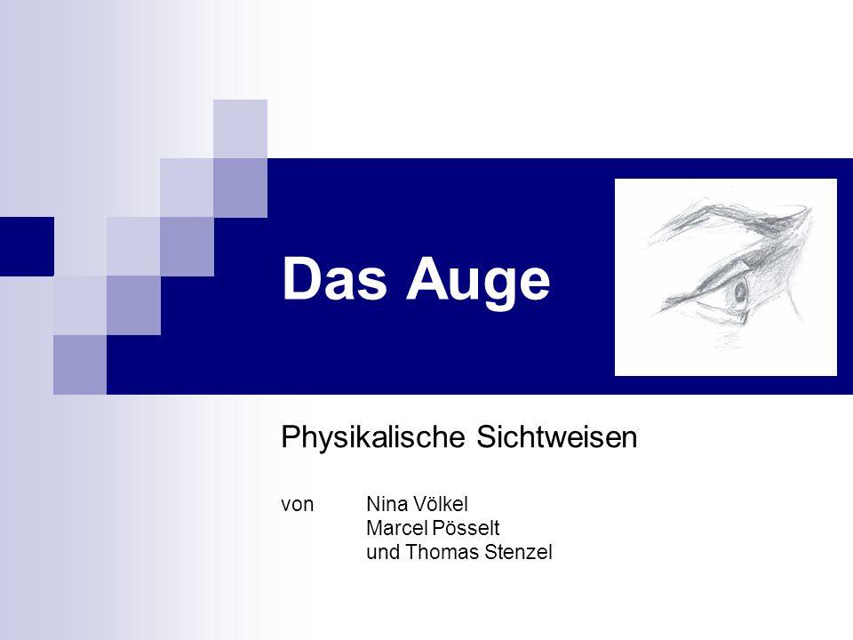 Das Auge Physikalische Sichtweisen von Nina Völkel Marcel Pösselt und Thomas Stenzel