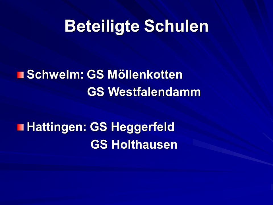 Beteiligte Schulen Schwelm: GS Möllenkotten GS Westfalendamm GS Westfalendamm Hattingen: GS Heggerfeld GS Holthausen GS Holthausen