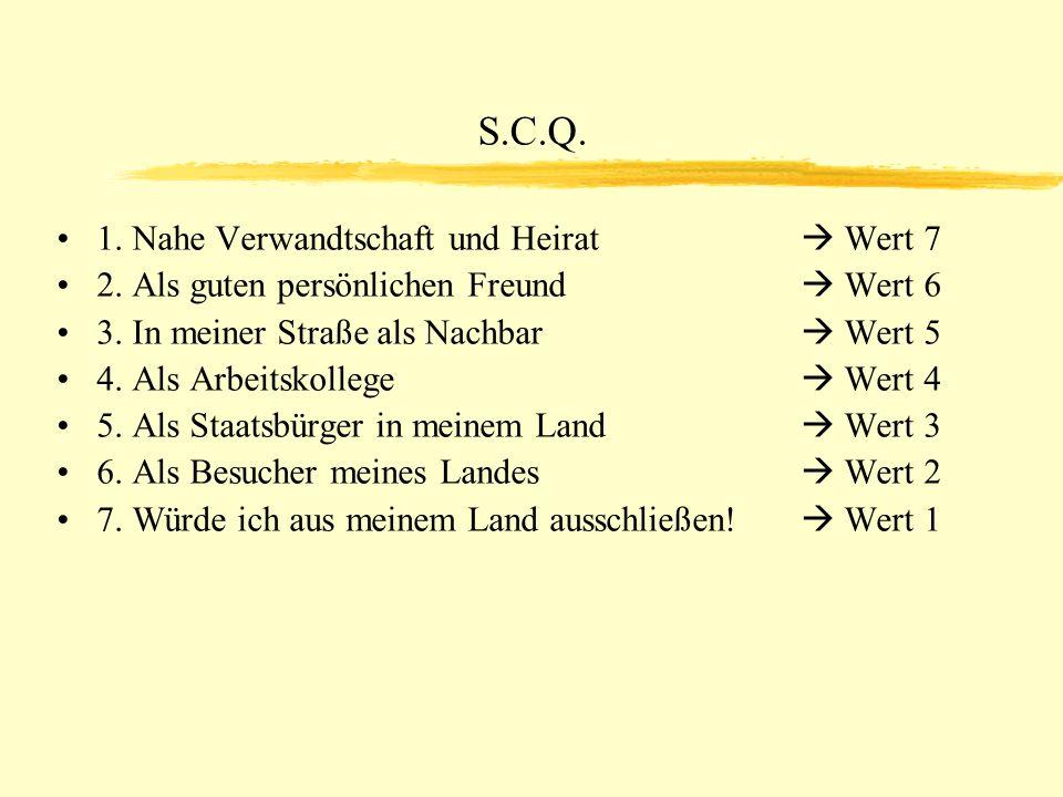 S.C.Q.1. Nahe Verwandtschaft und Heirat Wert 7 2.