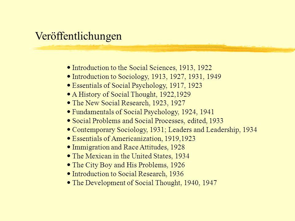 Social distance and its origins Soziale Distanz: Die Grade und Abstufungen des Verstehens und der Vertrautheit, welche im Allgemeinen die präsozialen und sozialen Beziehungen charakterisieren.