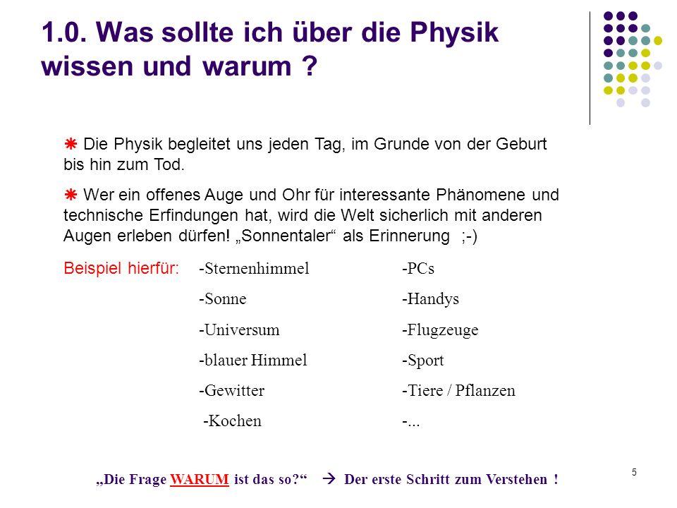 5 1.0.Was sollte ich über die Physik wissen und warum .