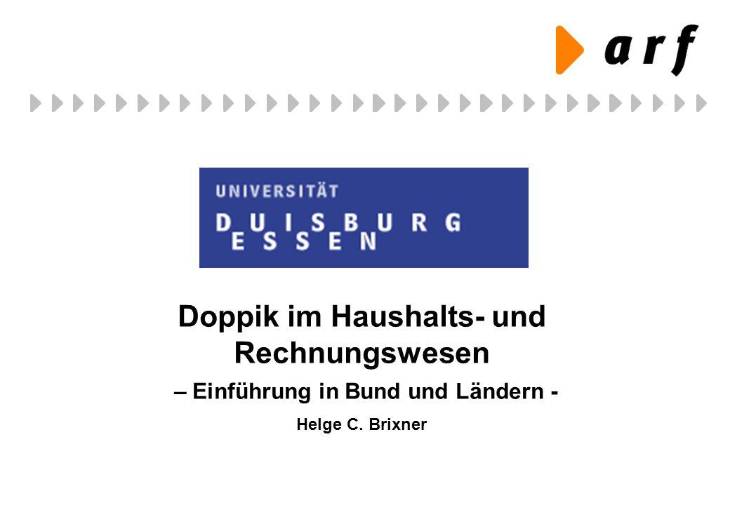 Doppik im Haushalts- und Rechnungswesen – Einführung in Bund und Ländern - Helge C. Brixner