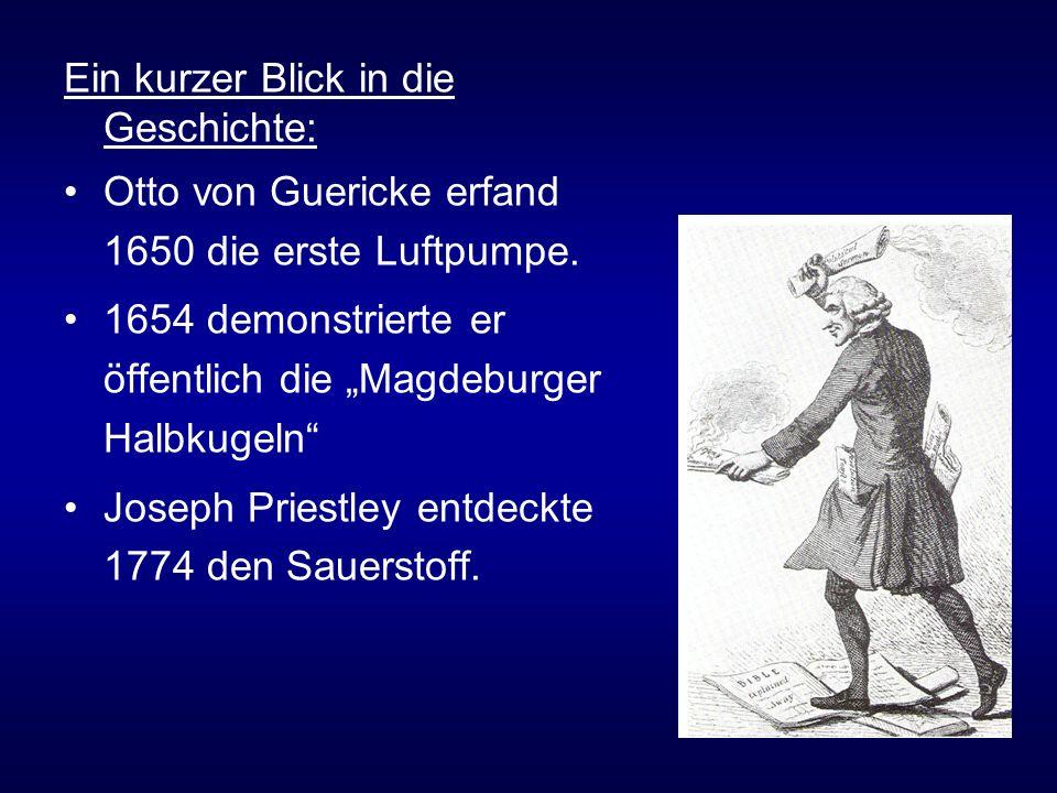 Ein kurzer Blick in die Geschichte: Otto von Guericke erfand 1650 die erste Luftpumpe.