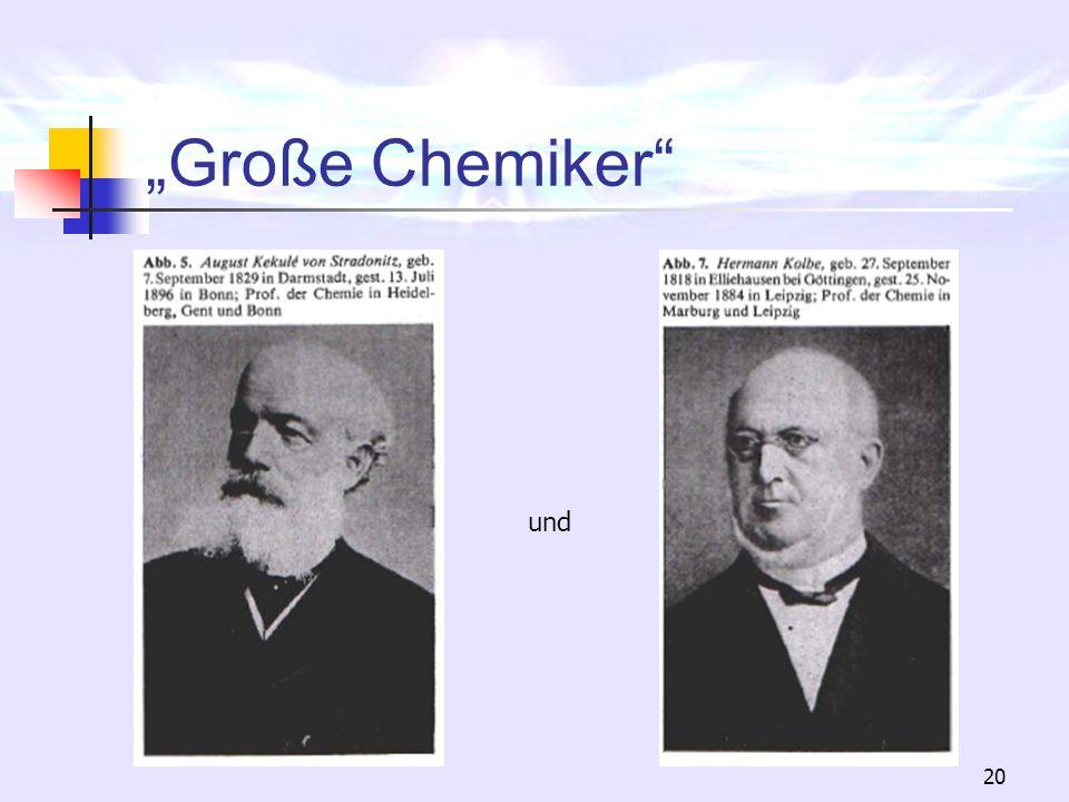 20 Große Chemiker und
