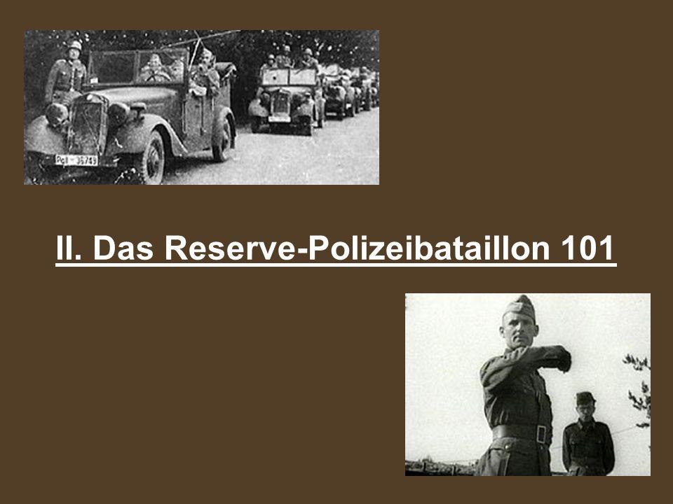 gerieten in russische Kriegsgefangenschaft Trapp, Buchmann und zwei Weitere Prozess in Polen Endet mit Hinrichtung Trapps und eines weiteren Polizisten Die Meisten schlugen sich nach Deutschland durch Männer kehrten größtenteils in ihre alten Berufe zurück Polizeiberuf.