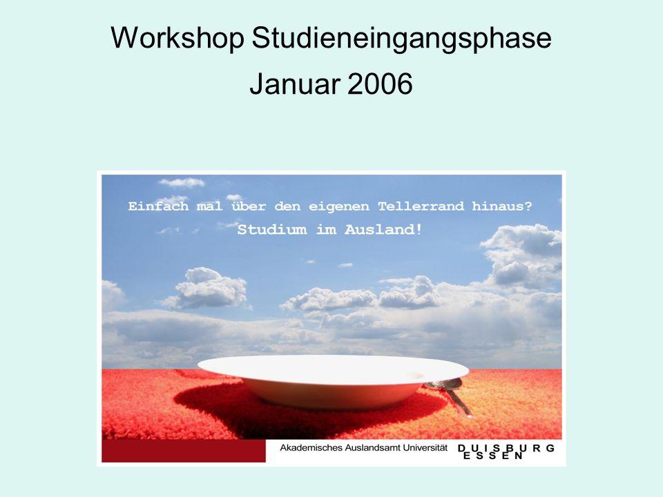 Zielsetzung des Akademischen Auslandsamtes Optimale Einführung in das Studium und in das studentische Leben.