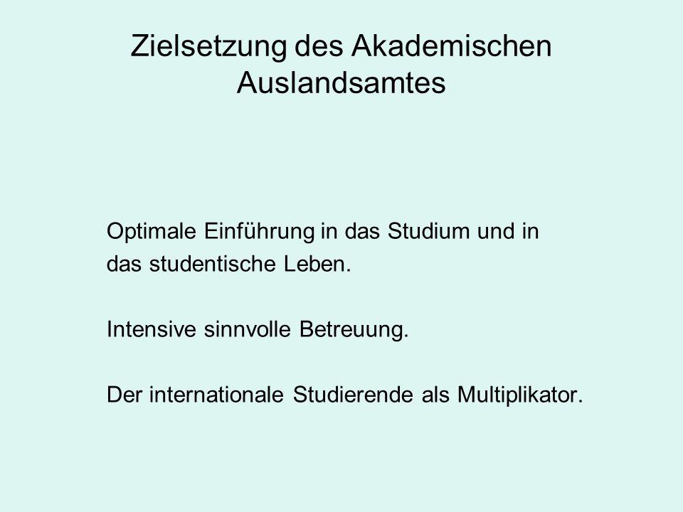 Bewerbungs- und Studienanfangsprozess Studienbewerber/Innen Inland Ausland ABZ AAA Infos Orientierungstage Für alle Spezifisch Angebote des ABZ, Infobörse, Studium und Praktikum im Ausland, Sprachtandem, etc.