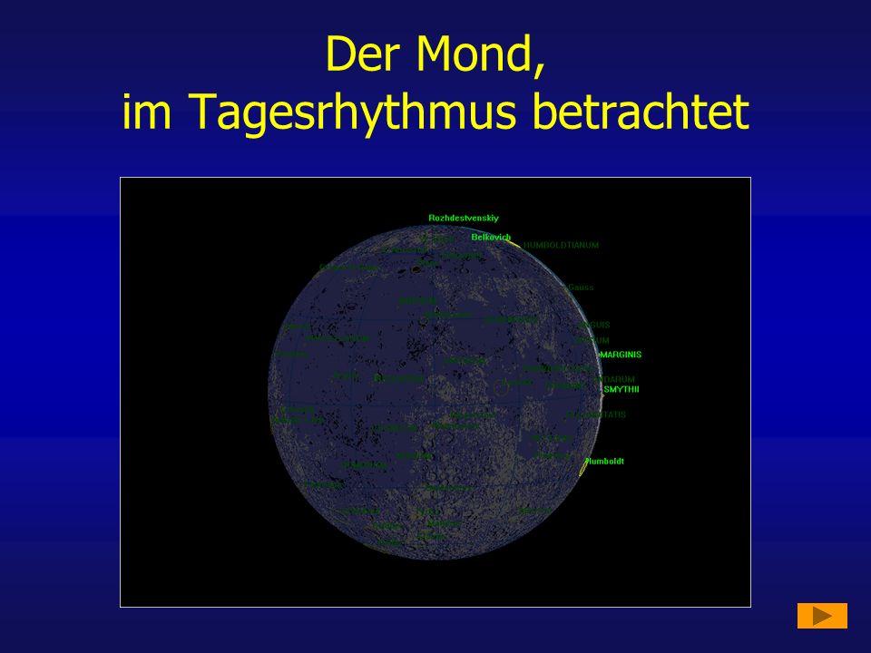 Der Mond, im Tagesrhythmus betrachtet