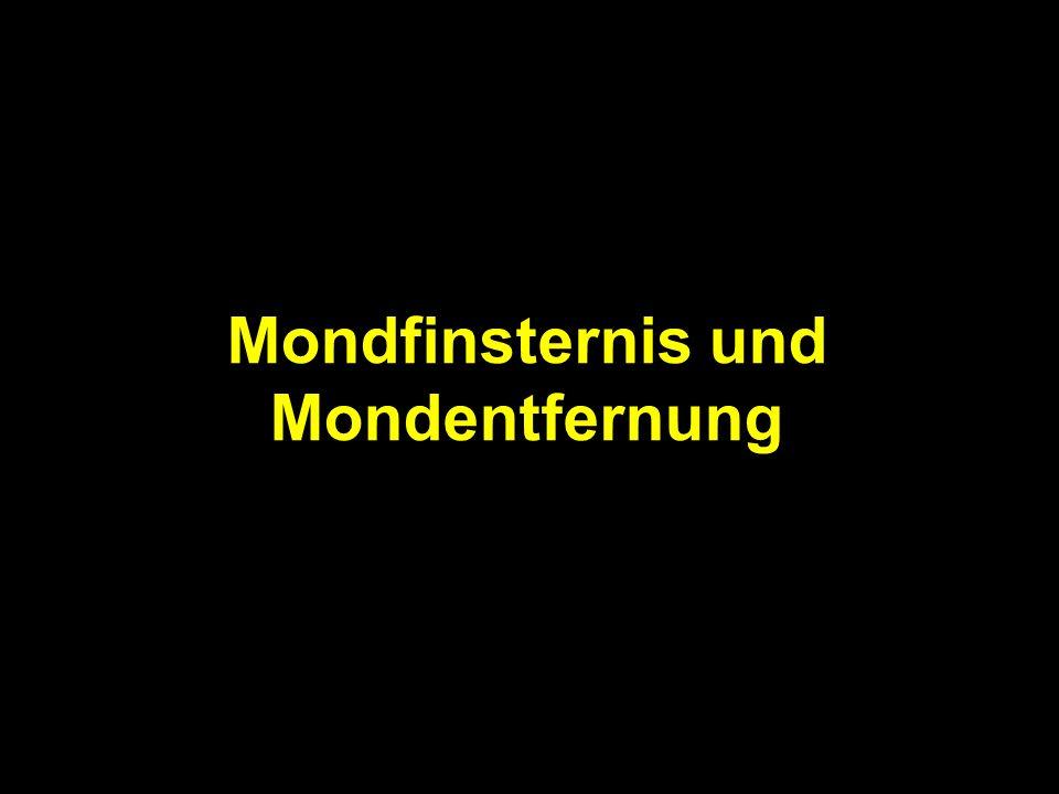 Mondfinsternis und Mondentfernung