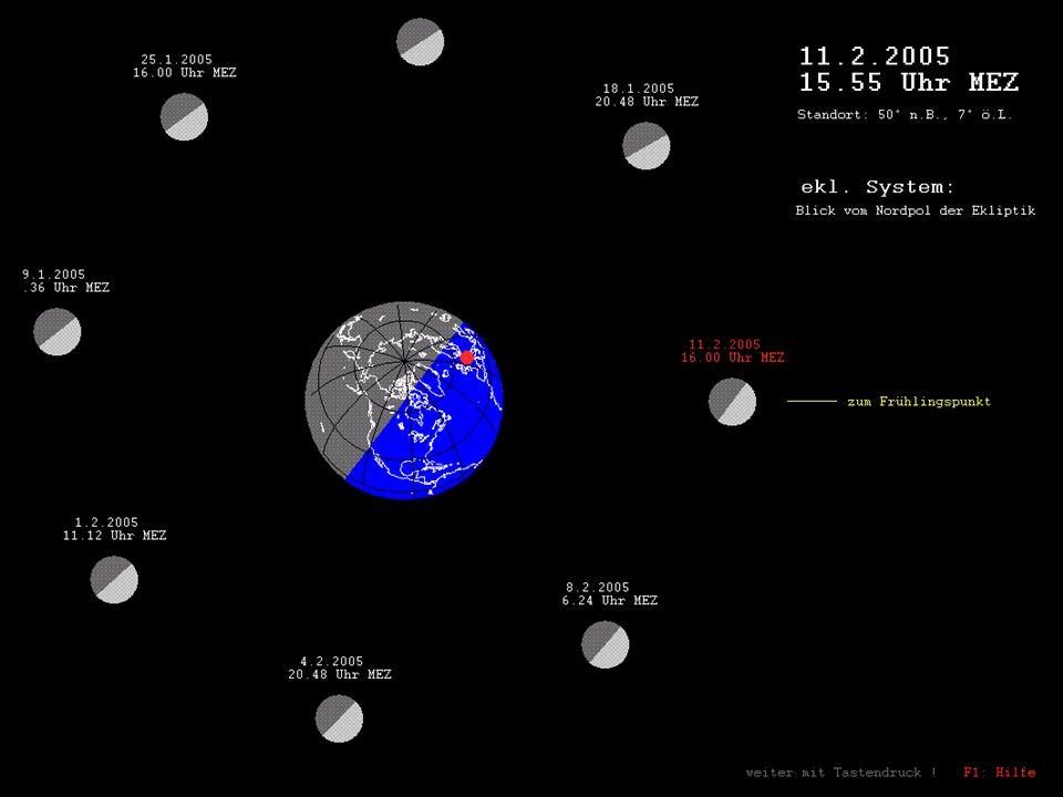 Zunehmender ¾-Mond
