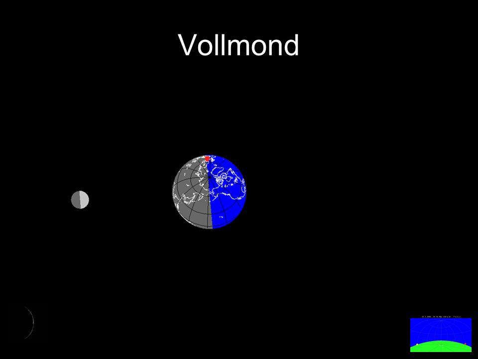 Abnehmender ¾-Mond