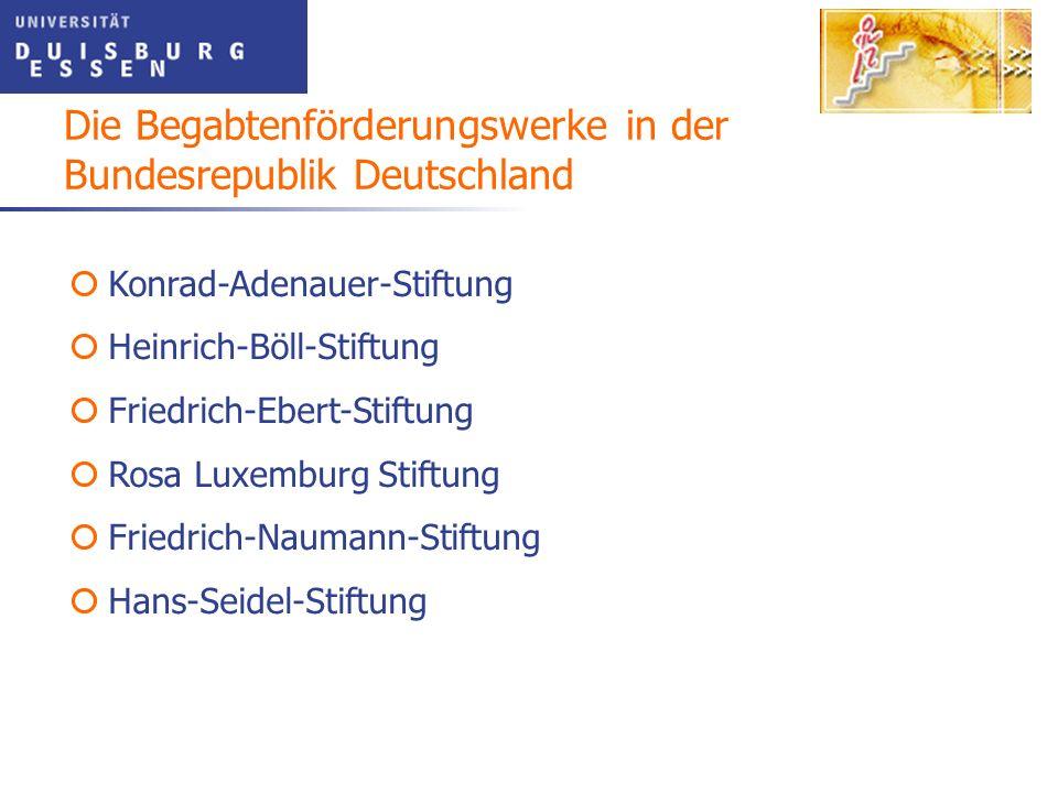 Konrad-Adenauer-Stiftung Heinrich-Böll-Stiftung Friedrich-Ebert-Stiftung Rosa Luxemburg Stiftung Friedrich-Naumann-Stiftung Hans-Seidel-Stiftung Die B