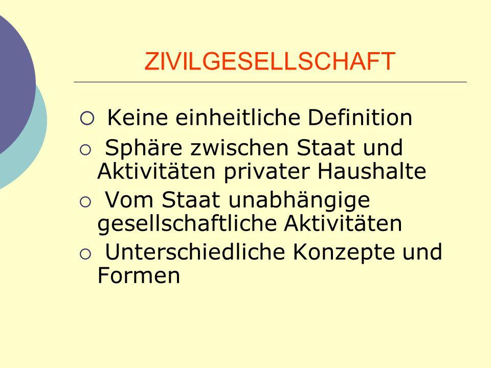 Allgemeine Ausgangsthese: Staatskapazit ä t (aus Sicht der Gesellschaft bzw.