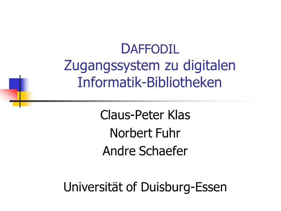 30.09.2004Universität Duisburg-Essen Result (2nd phase) Task 1: Known item instantiation (L1) Find document by given title (precise) Search strategies in content-based image retrieval