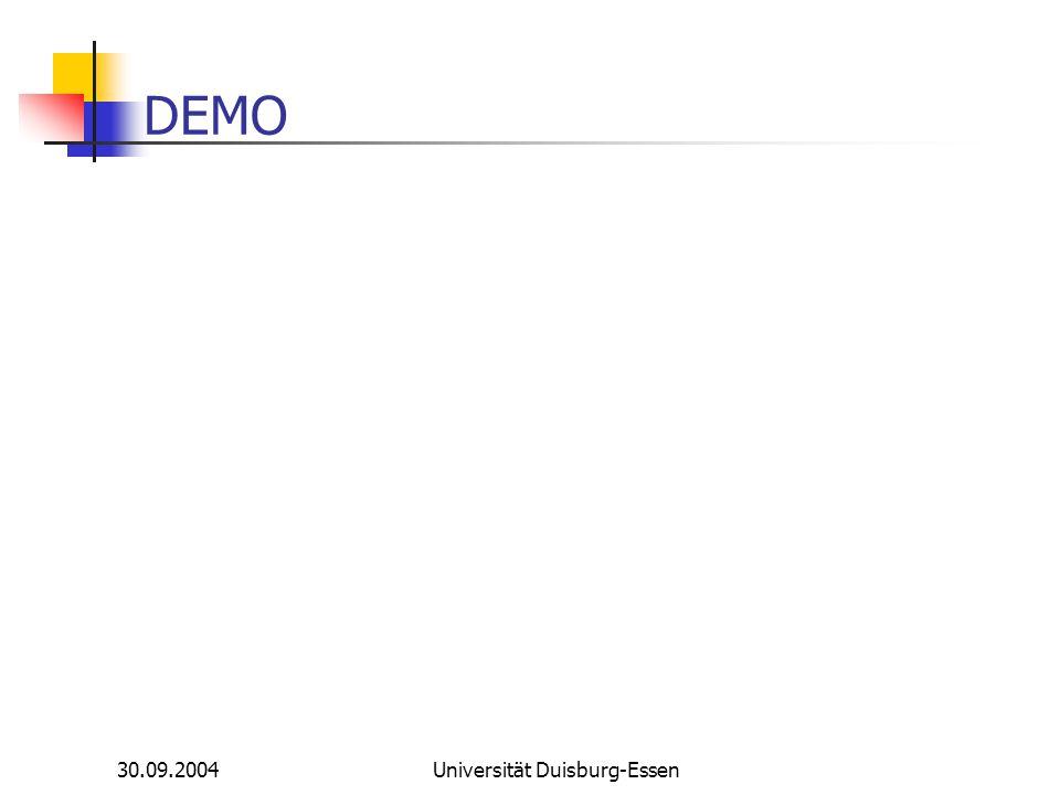 30.09.2004Universität Duisburg-Essen DEMO