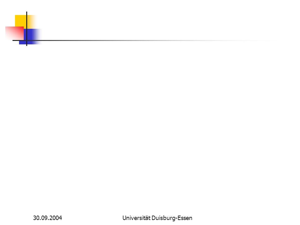 30.09.2004Universität Duisburg-Essen