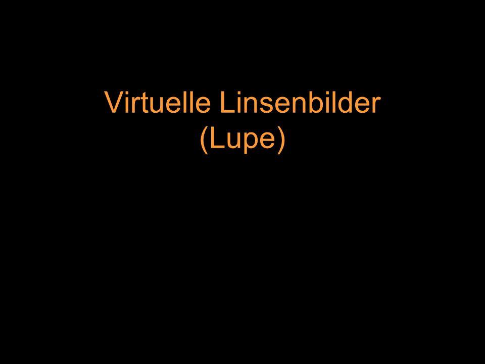 Virtuelle Linsenbilder (Lupe)