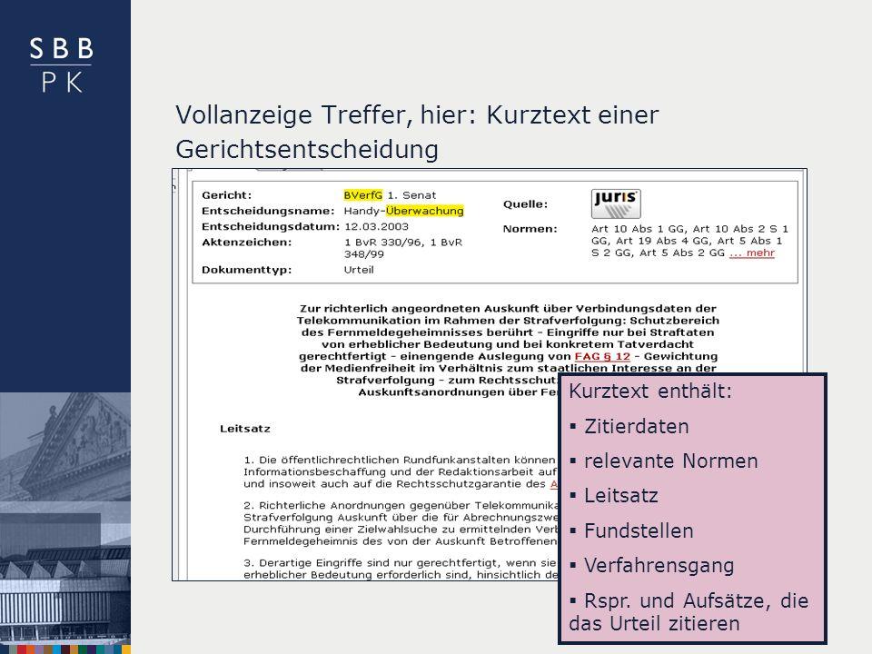 | Kurztext enthält: Zitierdaten relevante Normen Leitsatz Fundstellen Verfahrensgang Rspr.