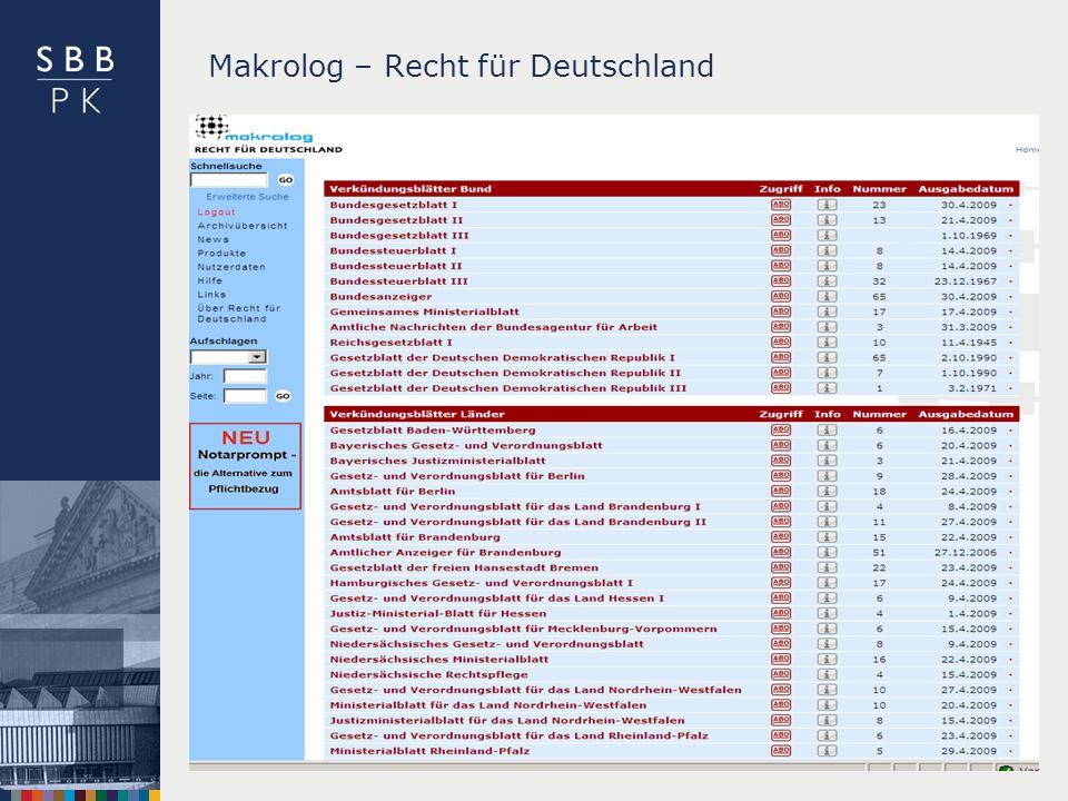 | Makrolog – Recht für Deutschland