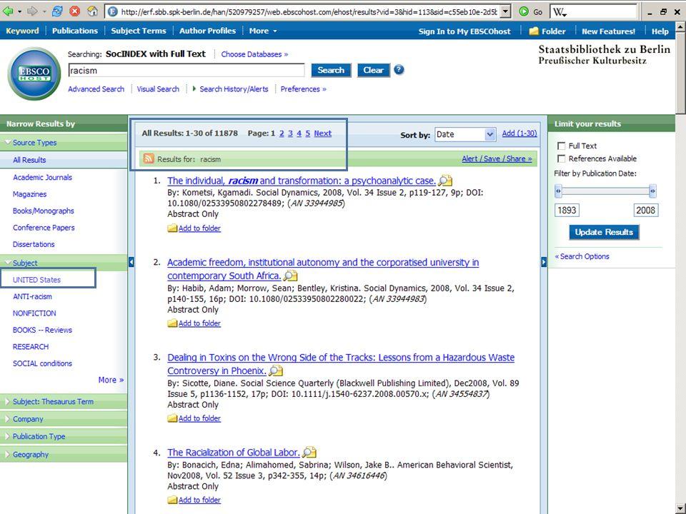 Abt. Katalogsystem und Wissenschaftliche Dienste | Kaya Tasci | Oktober 2008S. 17