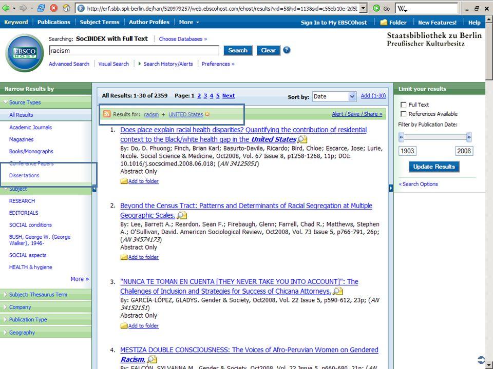 Abt. Katalogsystem und Wissenschaftliche Dienste | Kaya Tasci | Oktober 2008S. 18