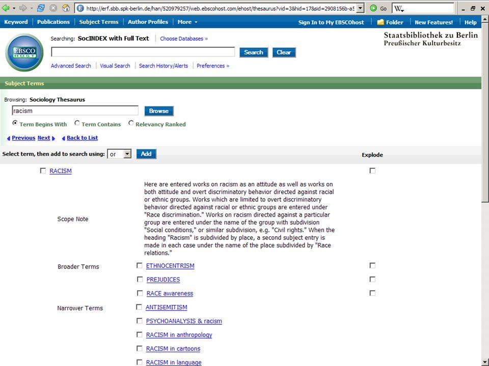 Abt. Katalogsystem und Wissenschaftliche Dienste | Kaya Tasci | Oktober 2008S. 39