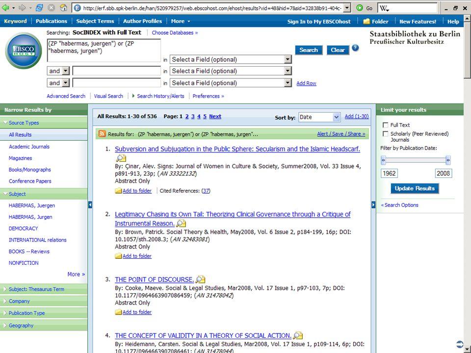 Abt. Katalogsystem und Wissenschaftliche Dienste | Kaya Tasci | Oktober 2008S. 51
