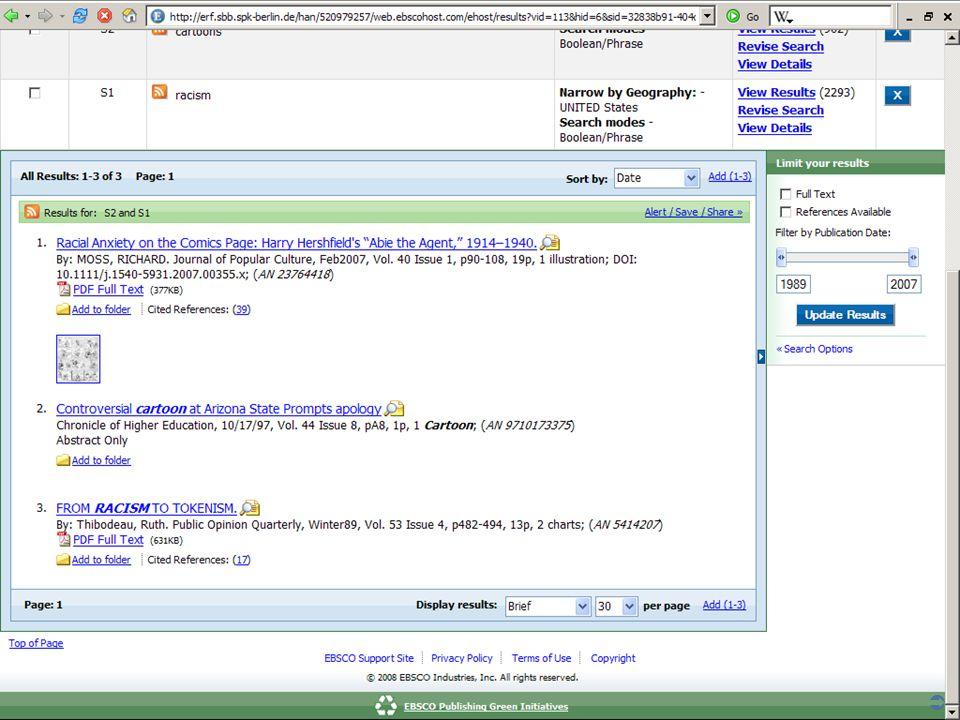 Abt. Katalogsystem und Wissenschaftliche Dienste | Kaya Tasci | Oktober 2008S. 57