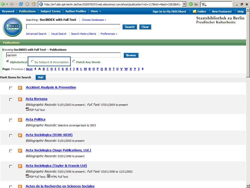 Abt. Katalogsystem und Wissenschaftliche Dienste | Kaya Tasci | Oktober 2008S. 60
