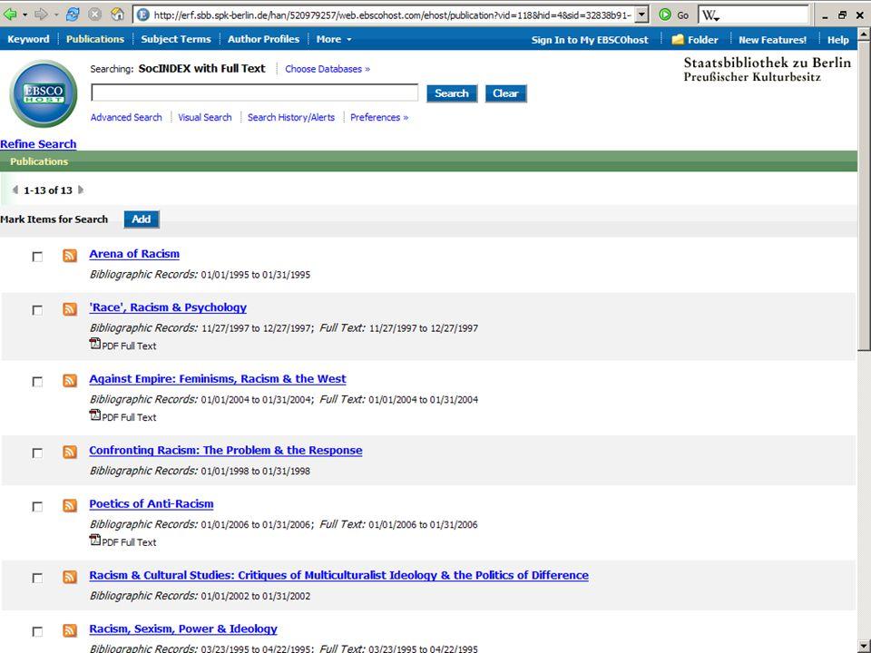 Abt. Katalogsystem und Wissenschaftliche Dienste | Kaya Tasci | Oktober 2008S. 61