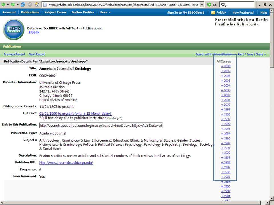 Abt. Katalogsystem und Wissenschaftliche Dienste | Kaya Tasci | Oktober 2008S. 65