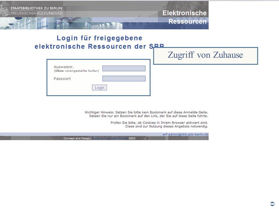 Abt. Katalogsystem und Wissenschaftliche Dienste | Kaya Tasci | Oktober 2008S. 7 Zugriff von Zuhause
