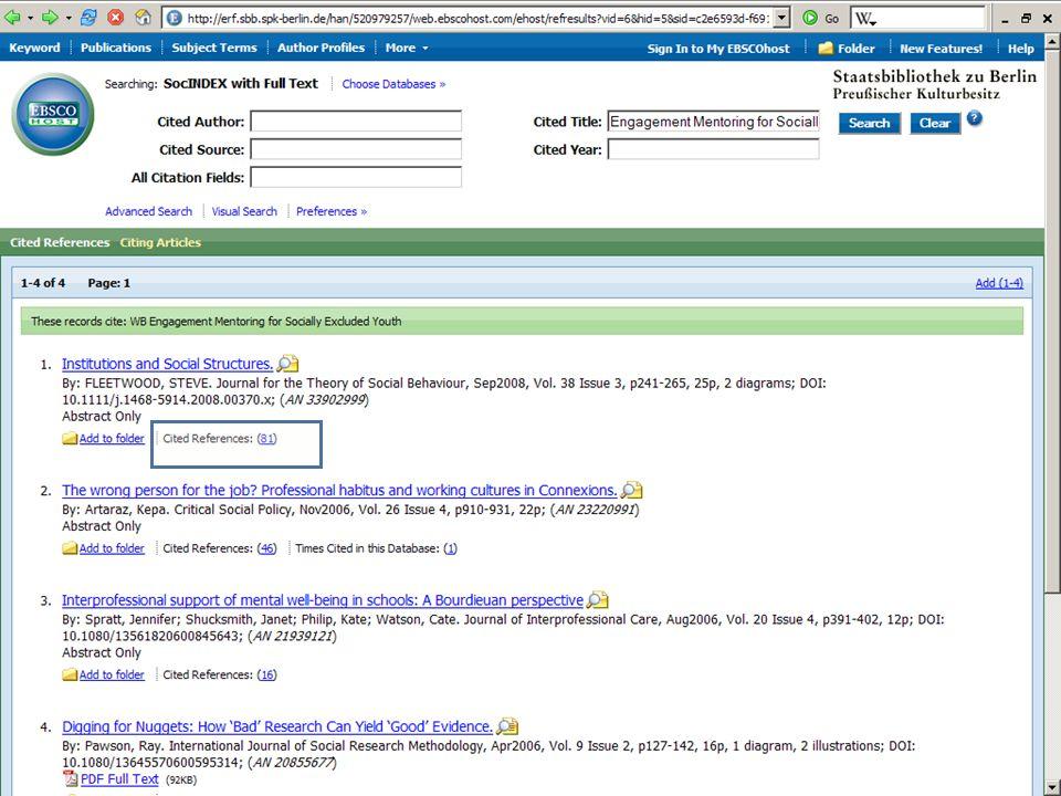 Abt. Katalogsystem und Wissenschaftliche Dienste | Kaya Tasci | Oktober 2008S. 74