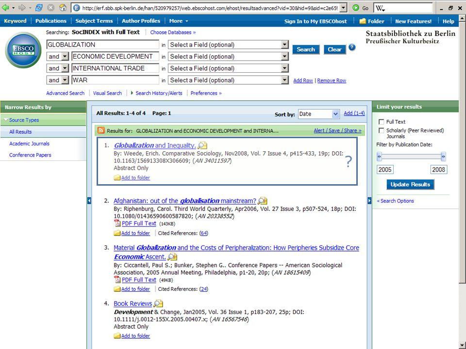 Abt. Katalogsystem und Wissenschaftliche Dienste | Kaya Tasci | Oktober 2008S. 78 ?