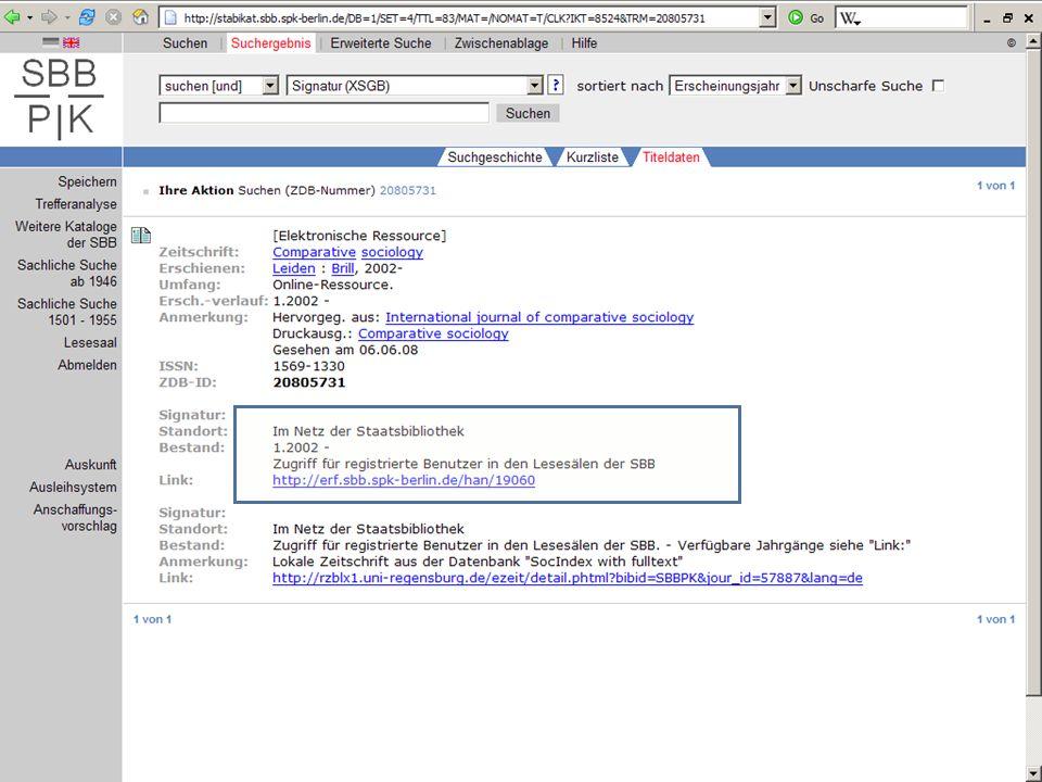 Abt. Katalogsystem und Wissenschaftliche Dienste | Kaya Tasci | Oktober 2008S. 80