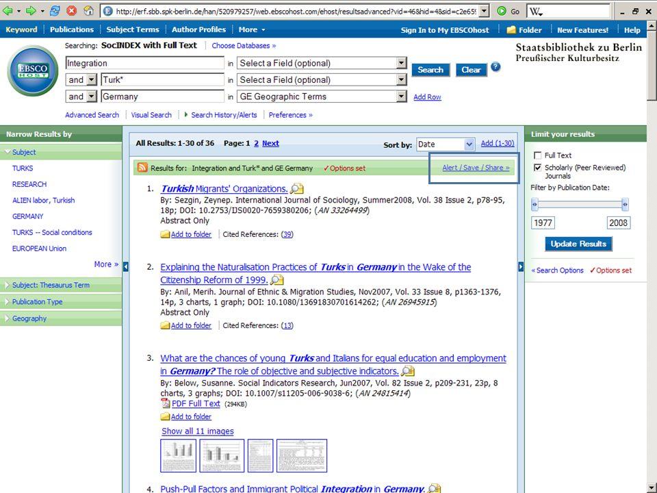 Abt. Katalogsystem und Wissenschaftliche Dienste | Kaya Tasci | Oktober 2008S. 86