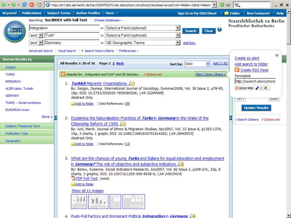 Abt. Katalogsystem und Wissenschaftliche Dienste | Kaya Tasci | Oktober 2008S. 87 Die Trefferliste und Vollanzeige im Detail
