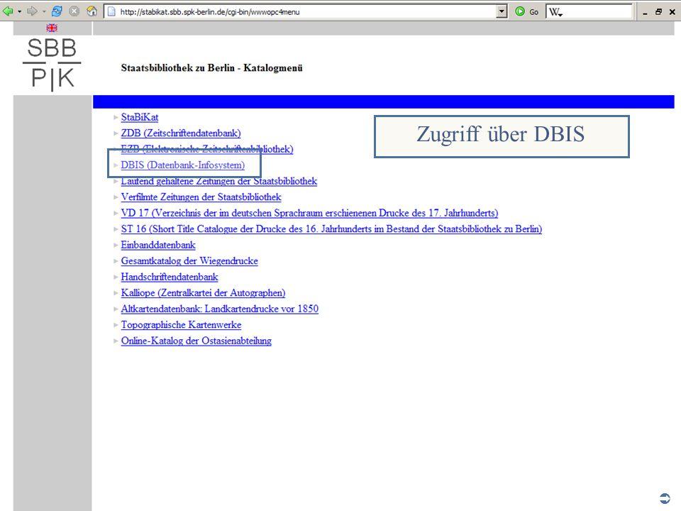 Abt. Katalogsystem und Wissenschaftliche Dienste | Kaya Tasci | Oktober 2008S. 9 Zugriff über DBIS