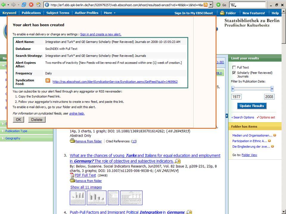 Abt. Katalogsystem und Wissenschaftliche Dienste | Kaya Tasci | Oktober 2008S. 91